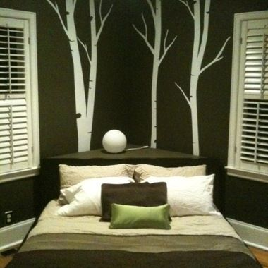 Corner Bed Design Ideas Pictures Remodel and Decor - page 4 & As someone who hates just lining walls with furniture I love this ... pillowsntoast.com