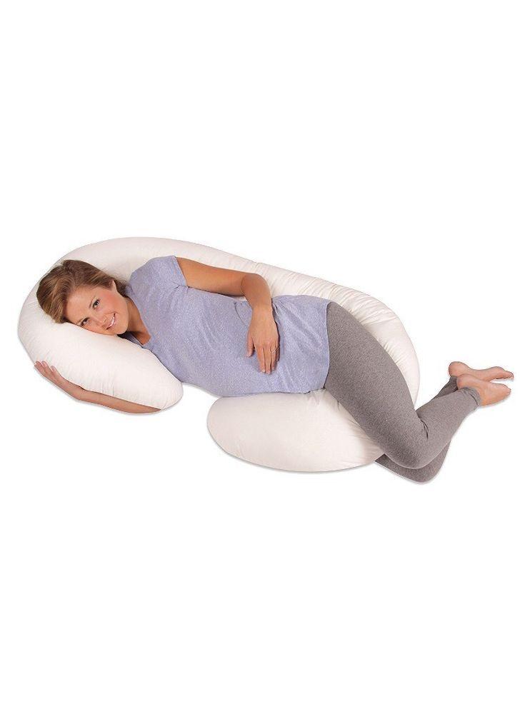 e7ce8044d023e Body Pillow Pregnancy Maternity Comfort Sleep Cuddle Baby Snooker Ivory New  #Leachco
