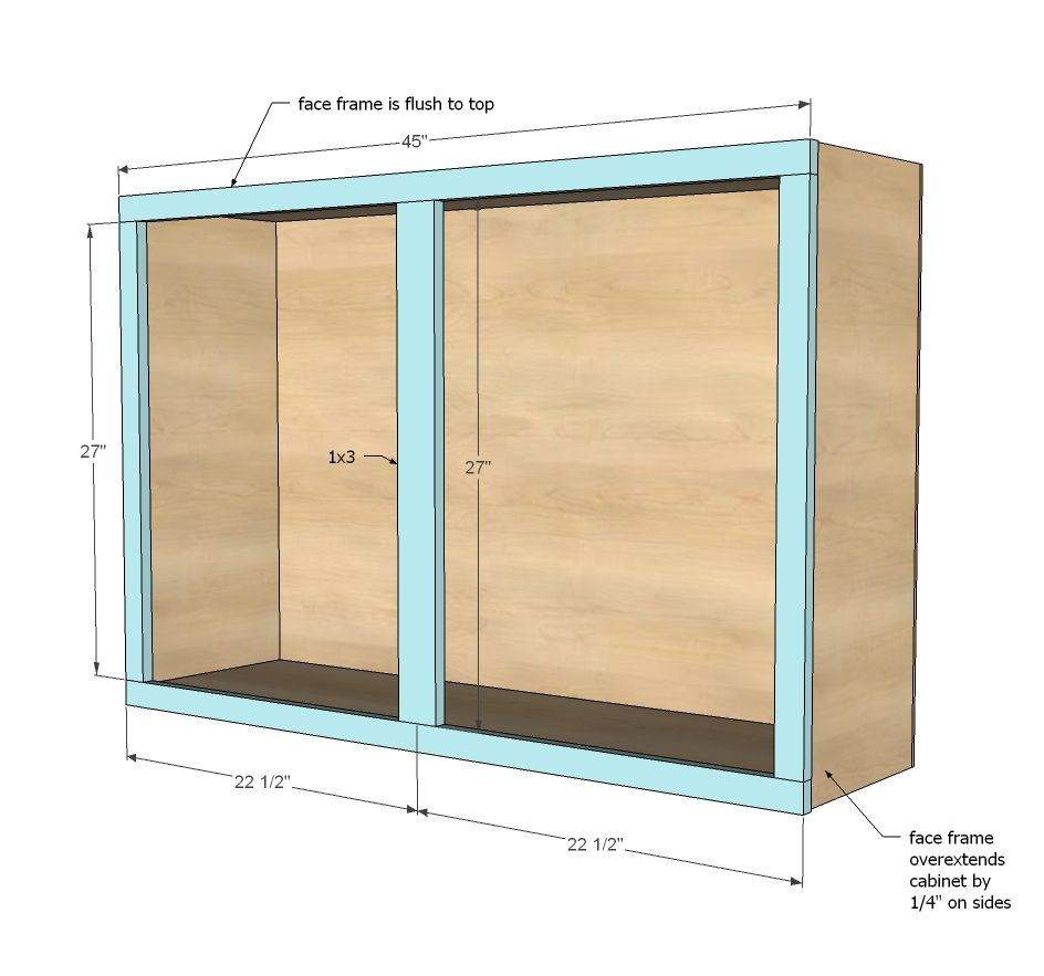 "Diy Kitchen Cabinet Plans: 45"" Wall Kitchen Cabinet"