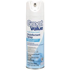 Great Value Fresh Linen Scent Disinfectant Spray 19 Oz
