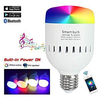 Santaro Smart Bluetooth Speaker Led Bulb App Control With Andriod