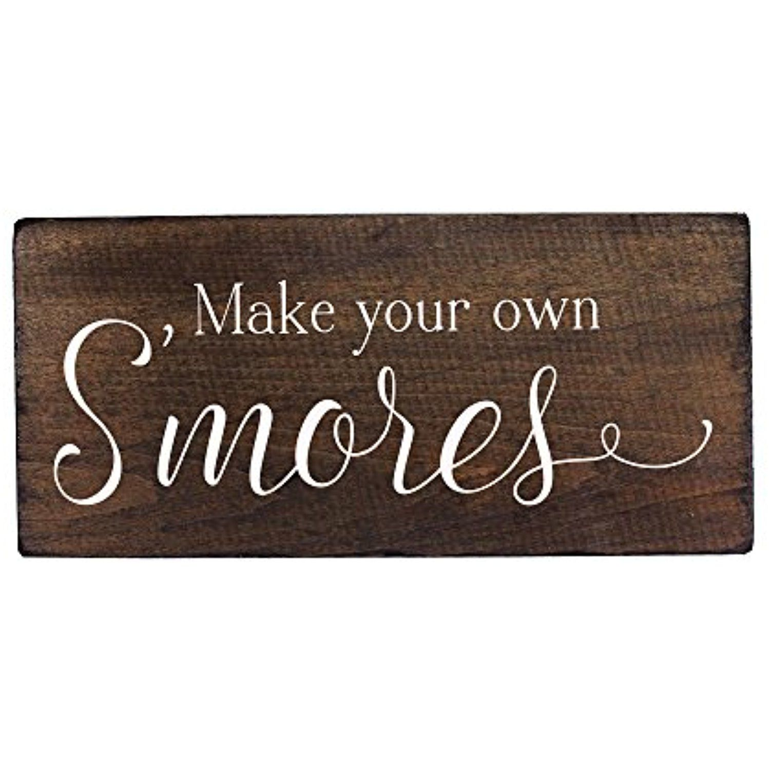 Bar Signs And Decorations Outdoor Party Decorations Smores Bar Sign Supplies For Wedding