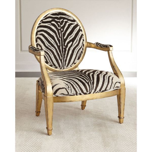 Great Marlon Zebra Print Accent Chair ($5,999) ❤ Liked On Polyvore Featuring Home,