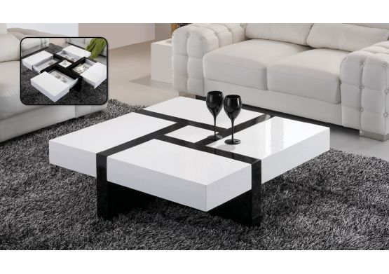 Table basse design emilie table basse pinterest design table design an - Table basse laque blanc design ...