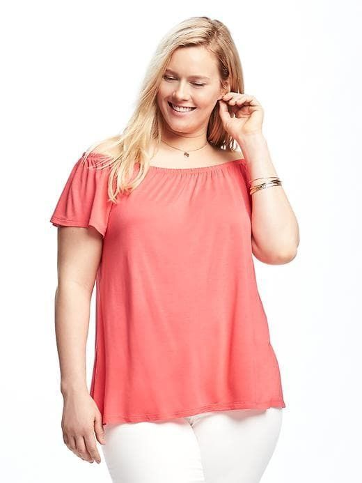 e4f814b913f1 Old Navy Off-the-Shoulder Plus-Size Swing Top   Products   Tops ...