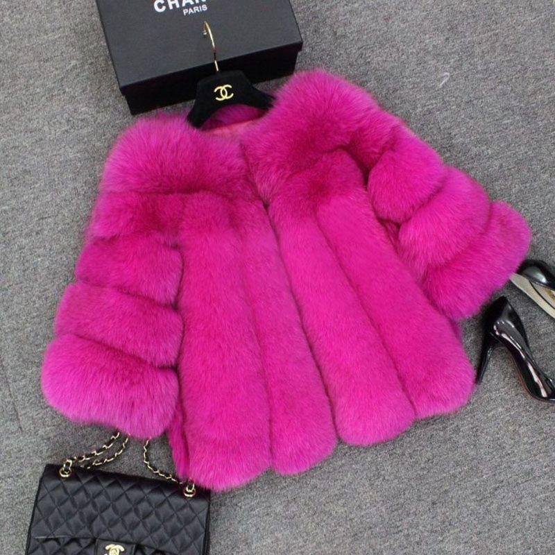 Pink Fur Coat Coats, Hot Pink Faux Fur Coat Long