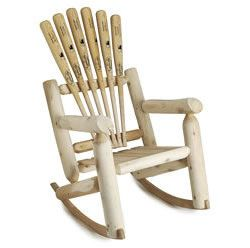 Great Incorporate Americau0027s Favorite Pastime Into The Decor With This Baseball  Bat Rocking Chair!