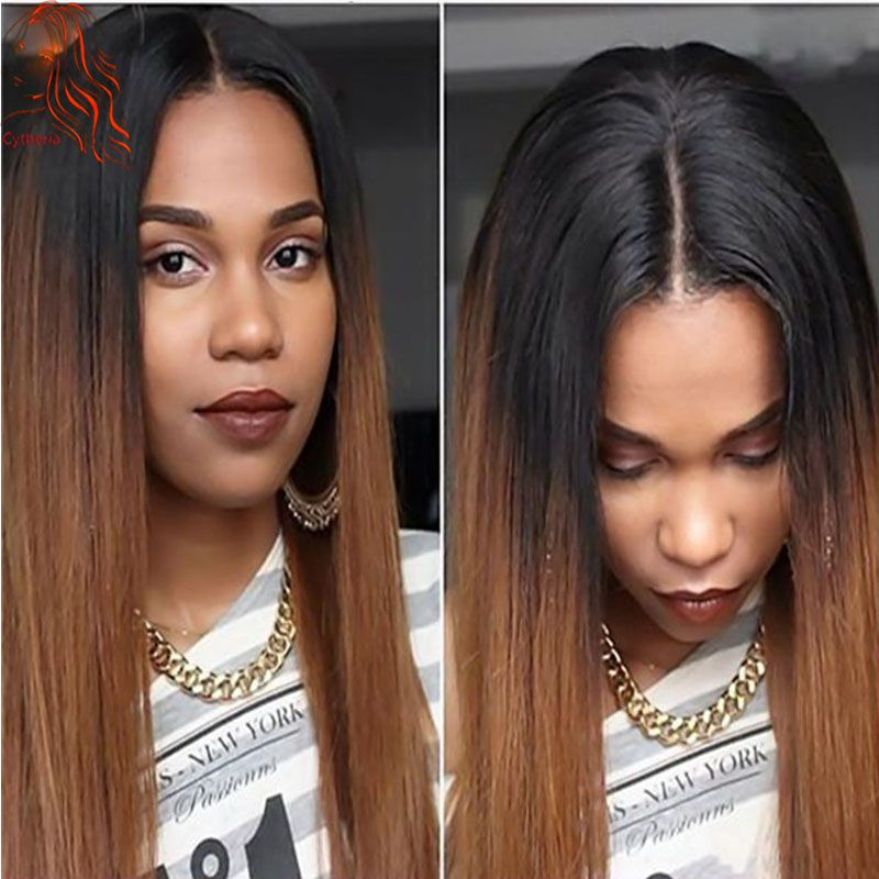 Cheap 1B/30 Silky Straight Ombre Color Full Lace Wigs Two