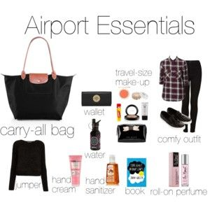 Airport Essentials Travel Size Products What To Pack Carry All Bag
