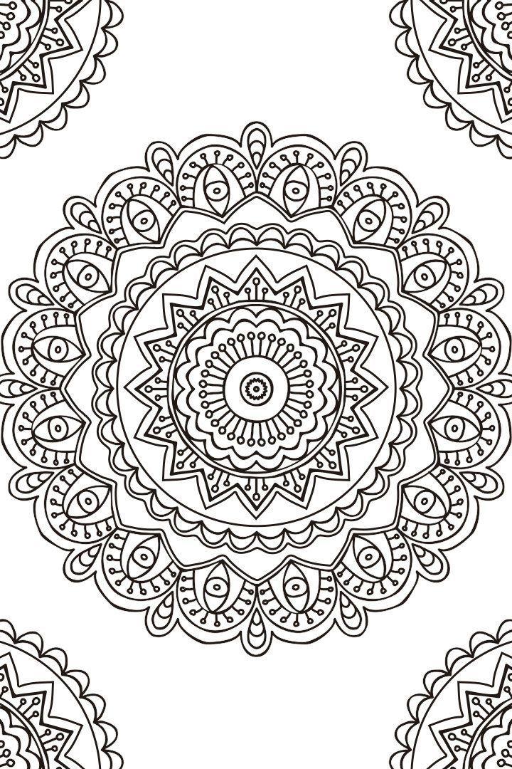 Mandalas para Imprimir y Colorear (21) | Hojas para Colorear Adultos ...