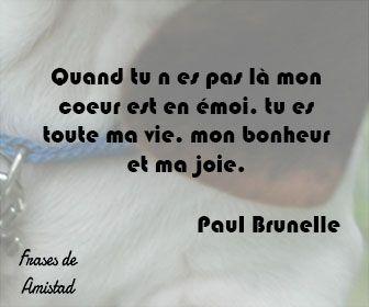 Frases De Amor En Frances De Paul Brunelle