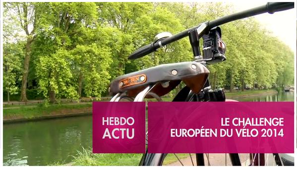 Challenge Européen du Vélo. Du 1er au 31 mai 2014 à Lille.