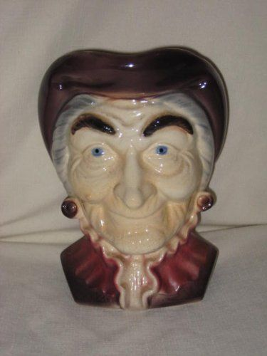 royal copley old lady | Vintage Royal Copley Old Lady Head Vase Planter / Wallpocket ~ Wall ...