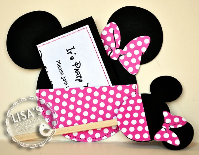 Images Of Minnie Mouse Invitations Handmade Minnie Mouse Bday