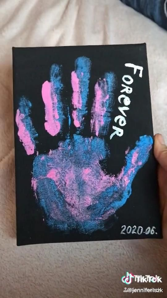Hand Print Video Couples Art Project Diy Best Friend Gifts Cute Boyfriend Gifts