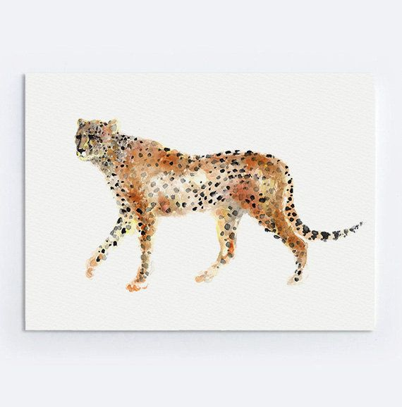 gu u00e9pard oeuvre peinture minimaliste  r u00e9sum u00e9 affiche home