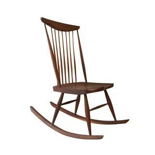 Magnificent George Nakashima Style Vintage Rocking Chair Rocking Pabps2019 Chair Design Images Pabps2019Com