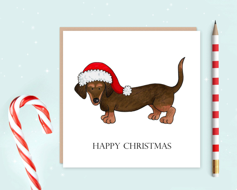 Dachshund christmas card dachshund dog card christmas cards dachshund christmas card dachshund dog card christmas cards ideal for christmas by kristyandbryce Image collections