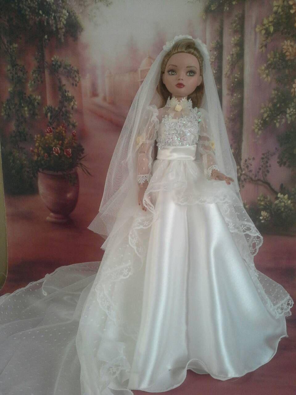 Doll wedding dress  Wedding Gown for Ellowyne WILDE inch Tonner Doll P  eBay