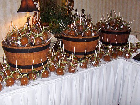 Taffy Apples Wedding Favors Caramel Apples for an October wedding