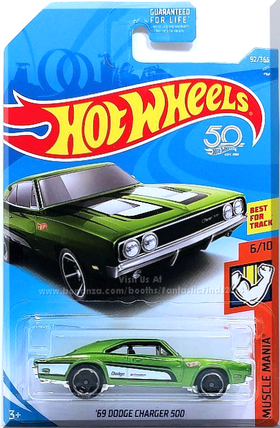 NEW 2020 Hot Wheels /'69 Dodge Charger 500 Green Flames Series RARE Muscle Car