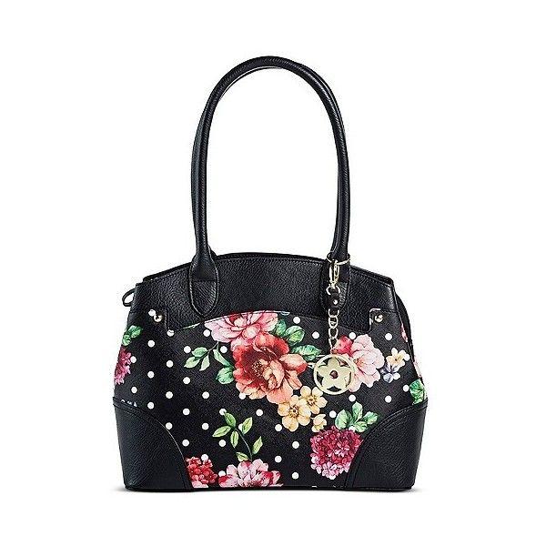 ab6038492c5d Bueno of California Women's Flower and Polka Dot Tote Handbag ($25 ...
