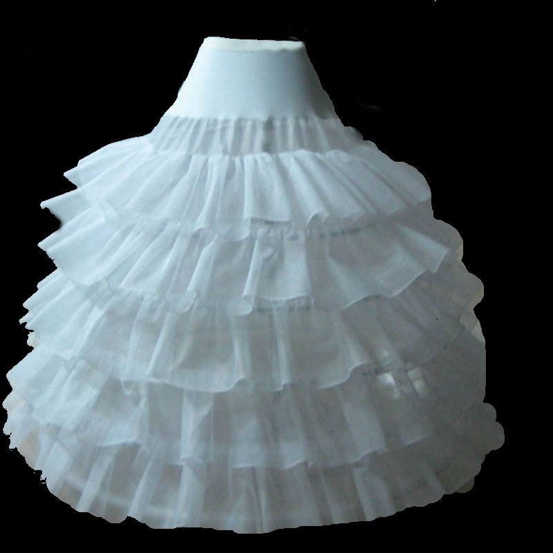 Click to Buy << Crinoline Petticoats for Wedding Dress Long Ball ...