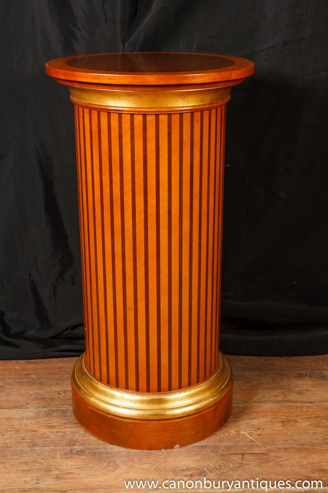 Photo of Regency Pedestal Table Column Support Classical Antiquity Furniture - Photo Of Regency Pedestal Table Column Support Classical Antiquity