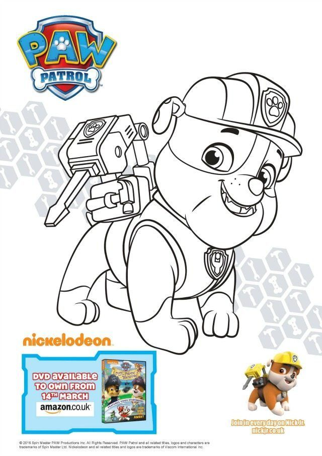 Paw Patrol colouring and activity sheets Pups and the Pirate - copy paw patrol coloring pages