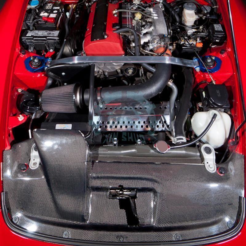 High Quality For Honda S2000 2000 08 Carbon Fiber Auto Spark Plug Cover Refit Civic Spoilers Civics