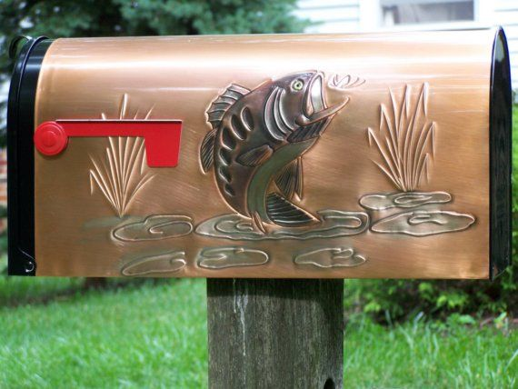 Bass Rural Mailbox on Etsy, $119.00