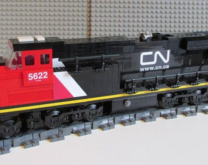 Custom Lego Canadian National Es44ac Train Instructions No Bricks