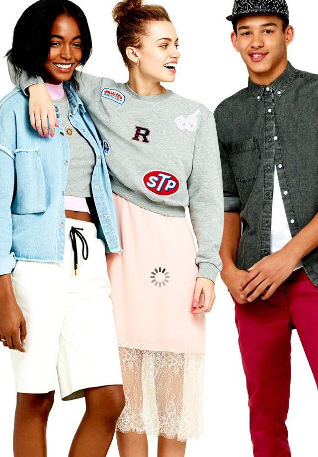 Asos opening picture is cute & the girl in the middle looks really pretty//
