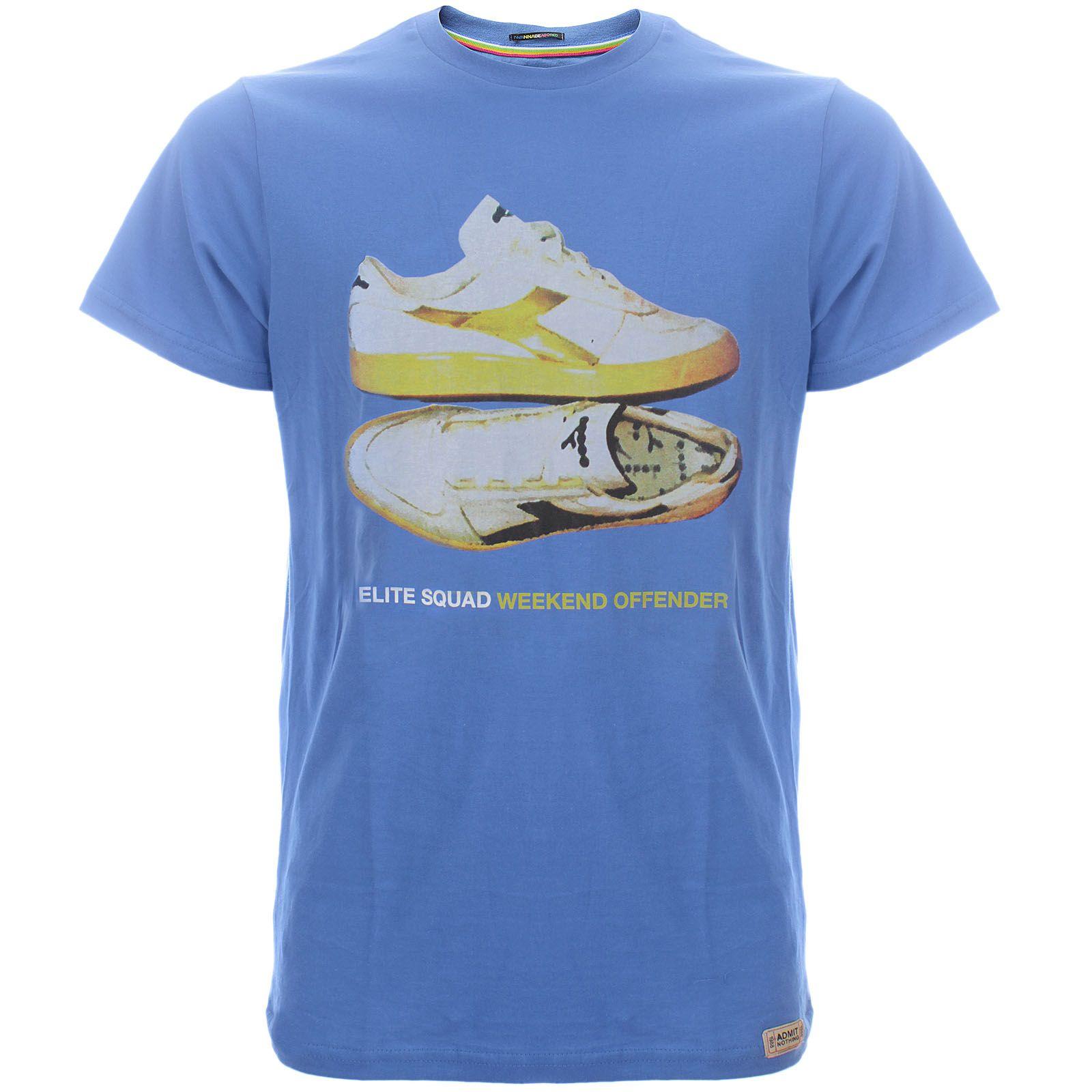 3807b6ece13749 WEEKEND OFFENDER - ELITE SQUAD T-SHIRT INTER BLUE (15346)