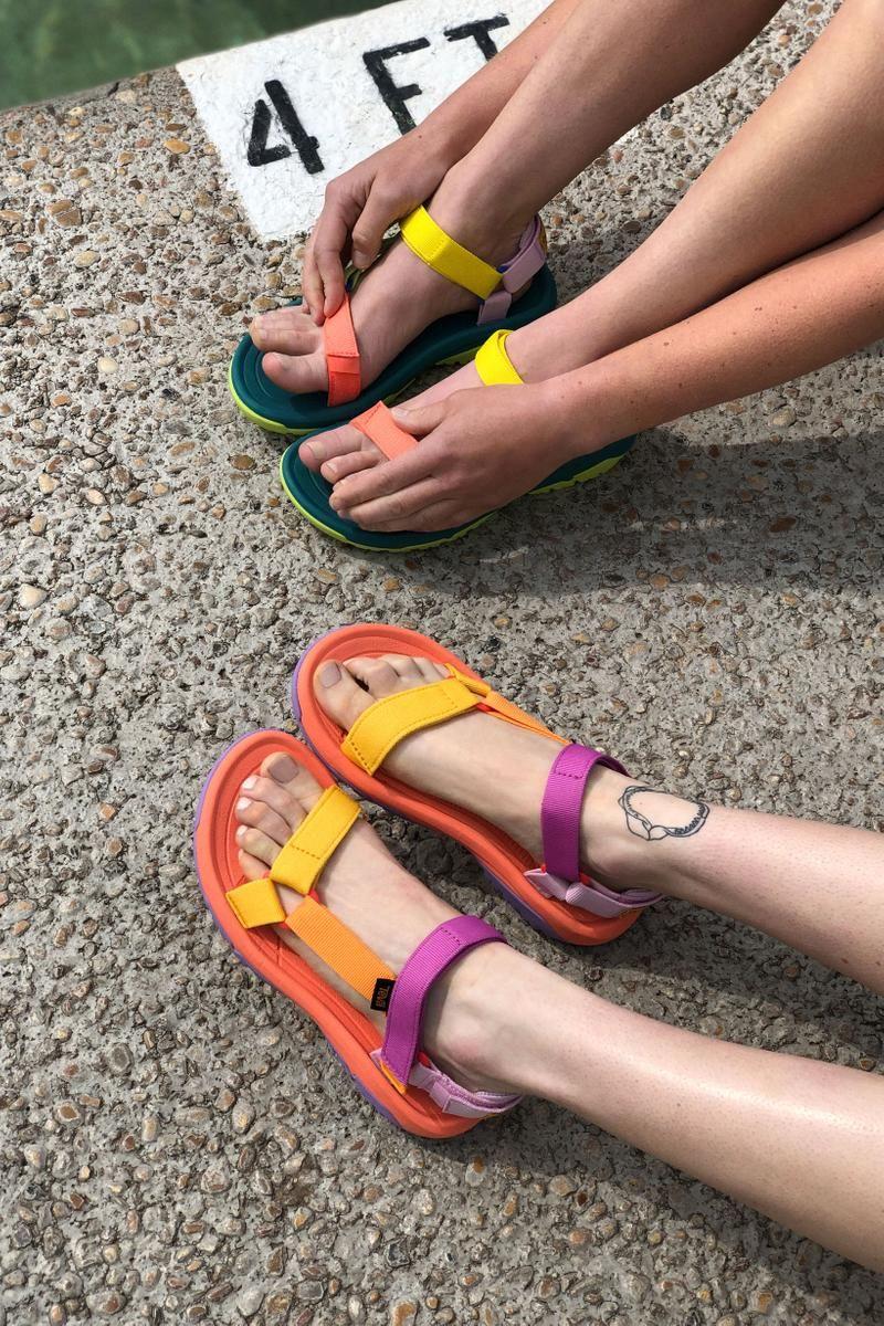 Outdoor Voices X Teva Debut Multicolored Sandals For Summer 2019 Teva Sandals Outfit Sandals Outfit Summer Teva