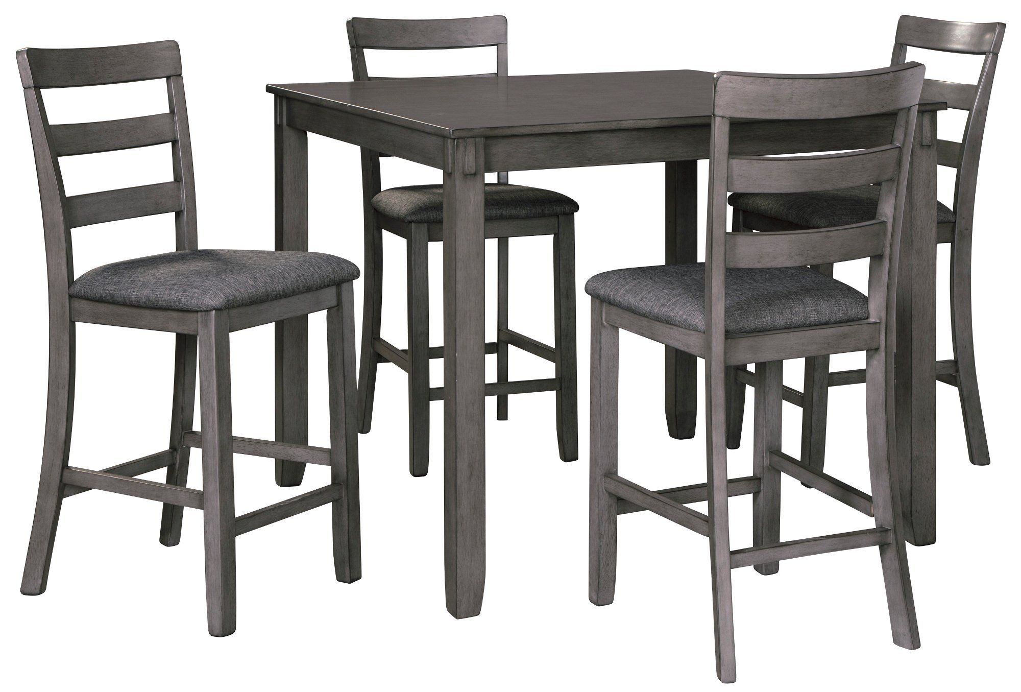Transitional Gray 5 Piece Counter Height Dining Set Bridson In 2020 Counter Height Dining Sets Counter Height Table Sets Homemakers Furniture