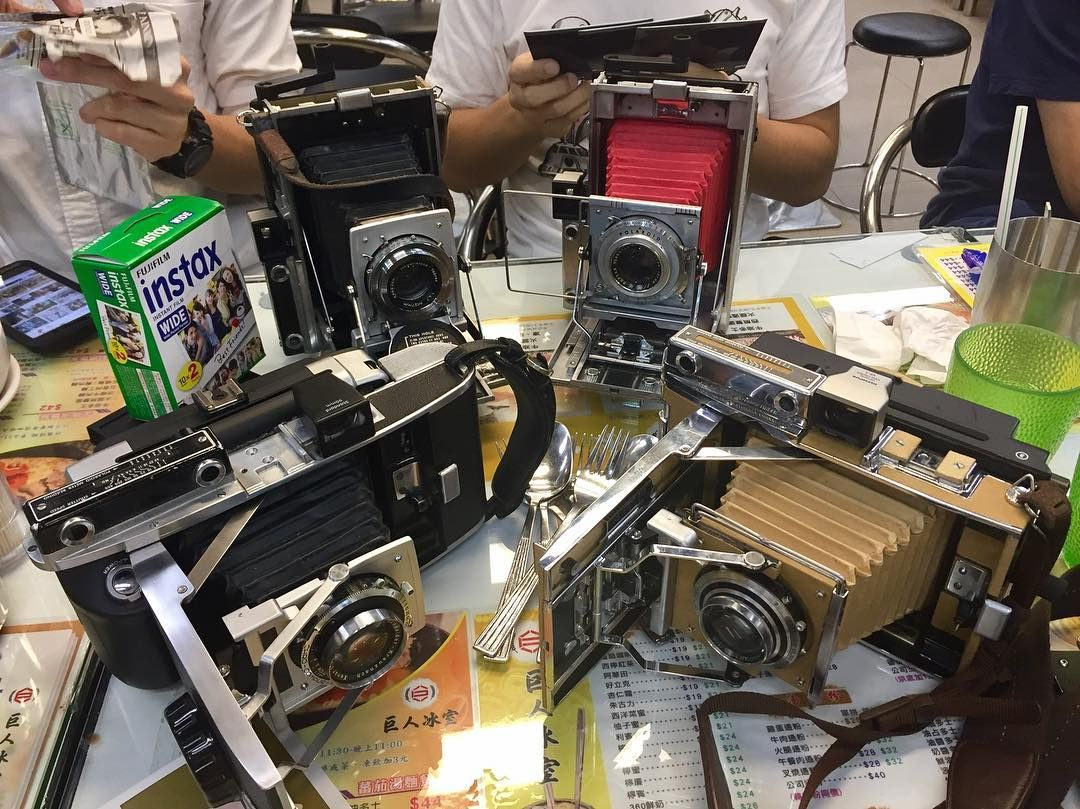 Polaroid 110 Cameras With Instax Wide Backs By Helicord Camera Hacks And Mods Diy Led