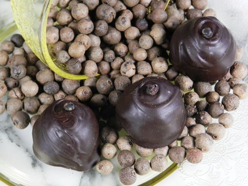 Allspice Chocolate Truffle Originally used by South American Indians to flavor their chocolate, we've resurrected the practice one again in our Allspice Chocolate Truffle.