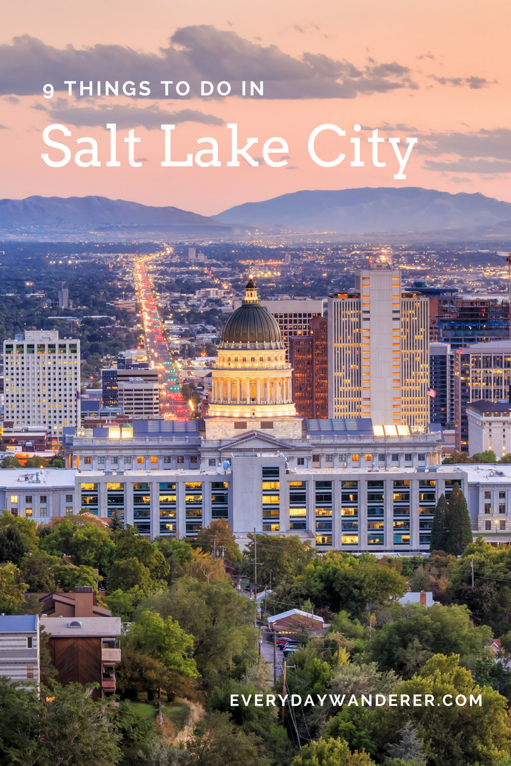 Visiting Salt Lake City? Here are 9 things to do and see! #visitsaltlake #saltlakecity