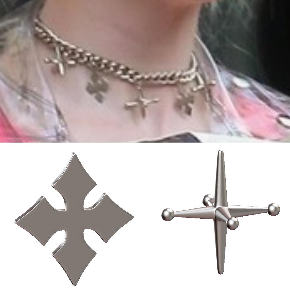 My 3d Model Interpretation Of The Jacks Crosses Charms On Harley S Necklace Bopharleyquinn Bopharleyquinncosplay Bopharleyquinncosplayr Arlequina Imagens