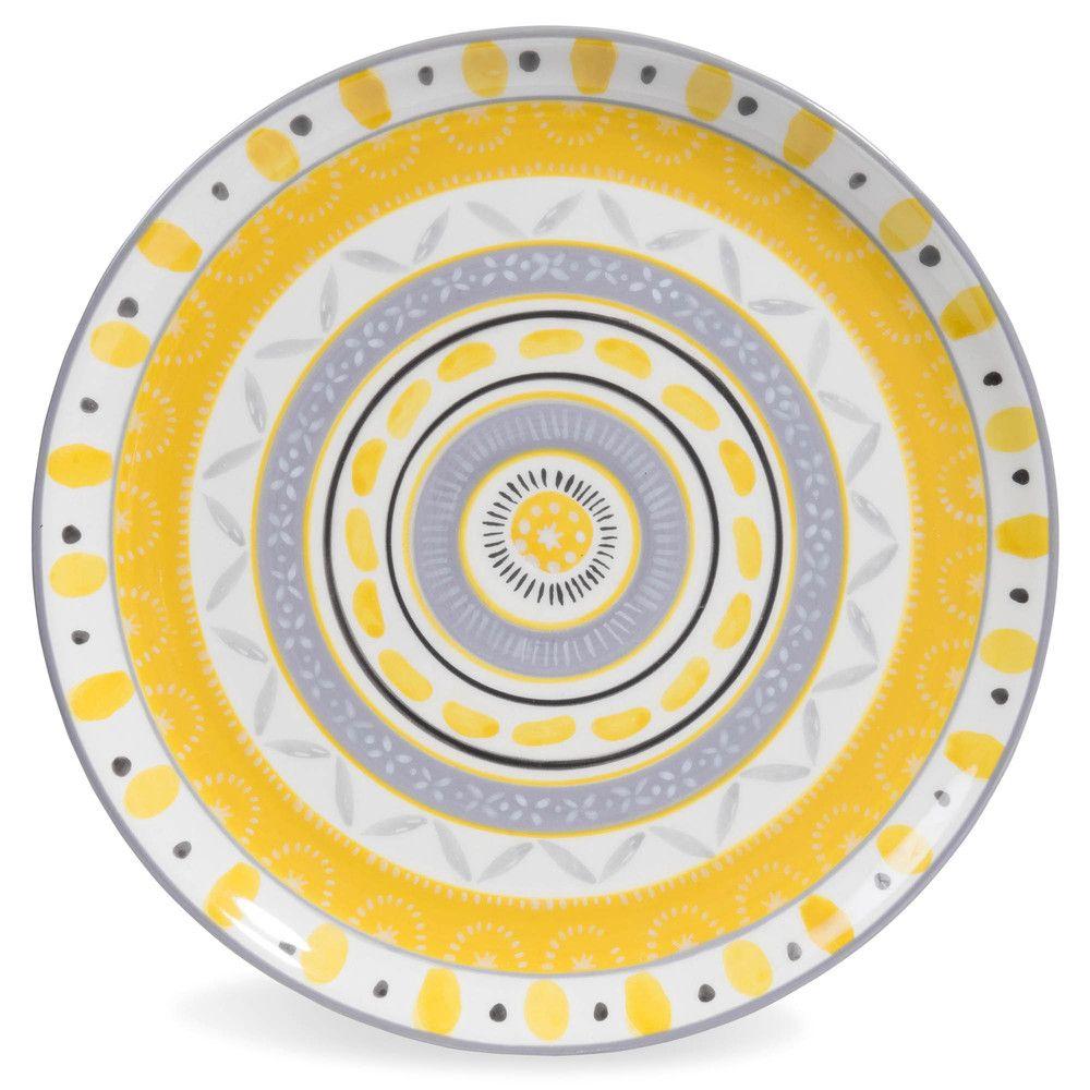 vaisselle poterie assiettes plates maison du monde et assiette