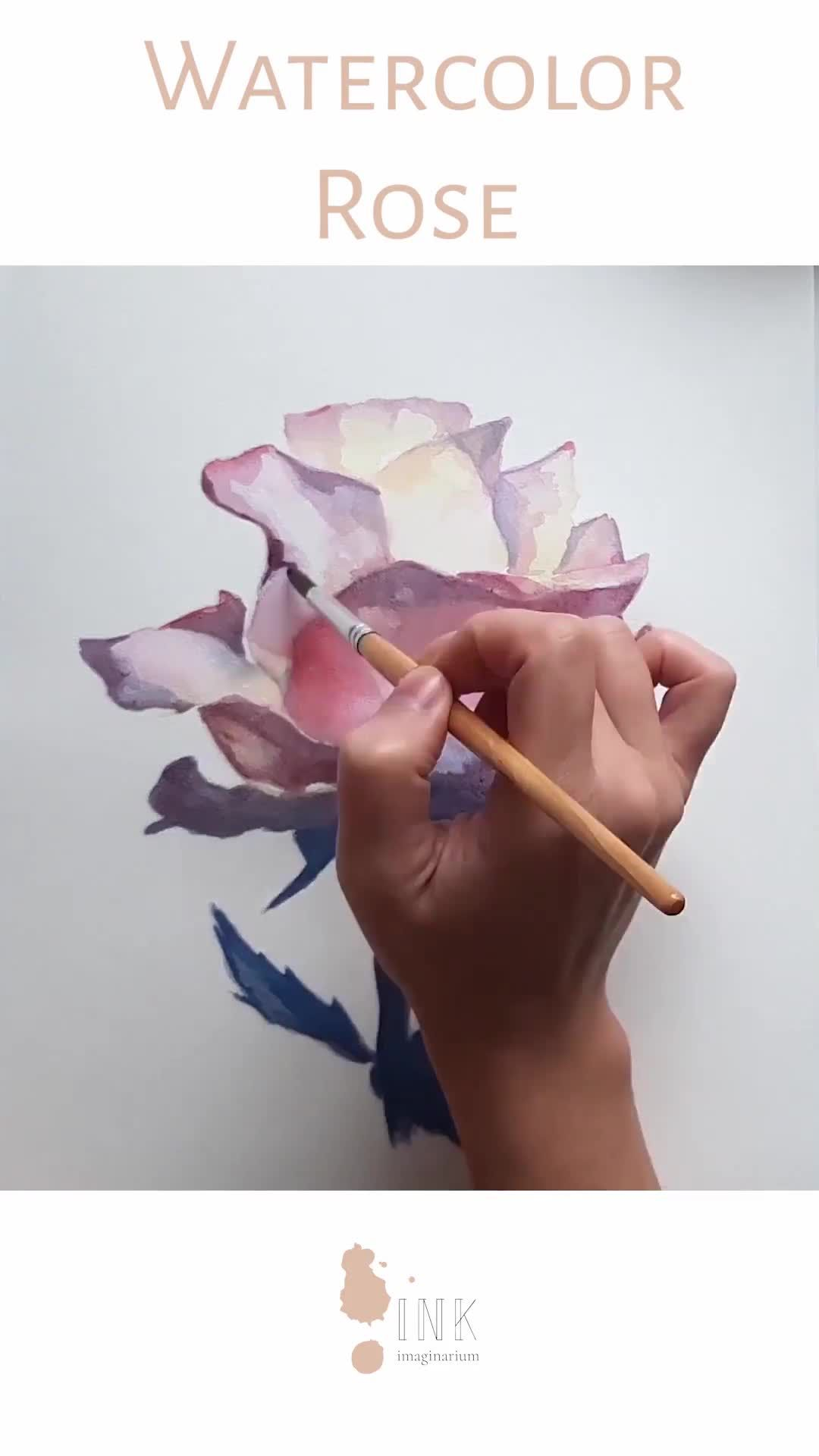 Photo of Watercolor Rose Time Lapse Video