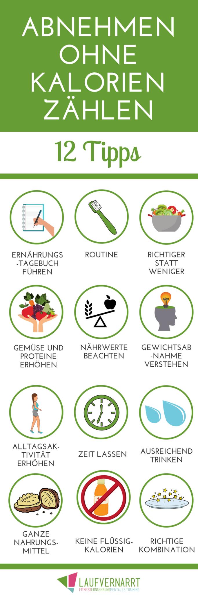Abnehmen ohne Kalorien zählen - 10 Tipps für den Gewichtsverlust