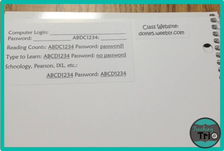 Three Bright Ideas to start the school year- labels for computer