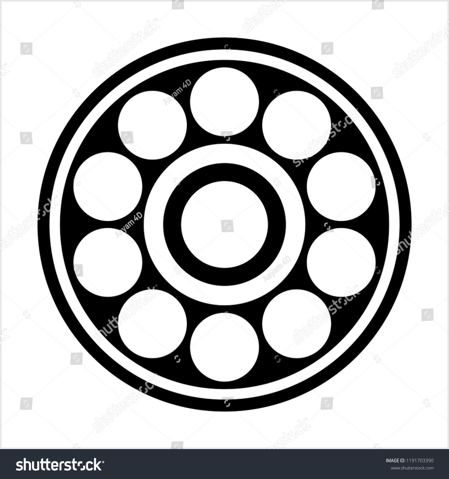 Bearing Icon Ball Bearing Icon Vector Art Illustration Ad Affiliate Ball Icon Bearing Illustration Vector Art Illustration Bear Illustration Vector Art
