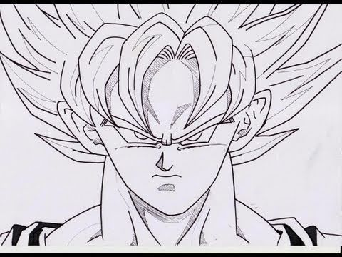 how to draw goku super saiyan