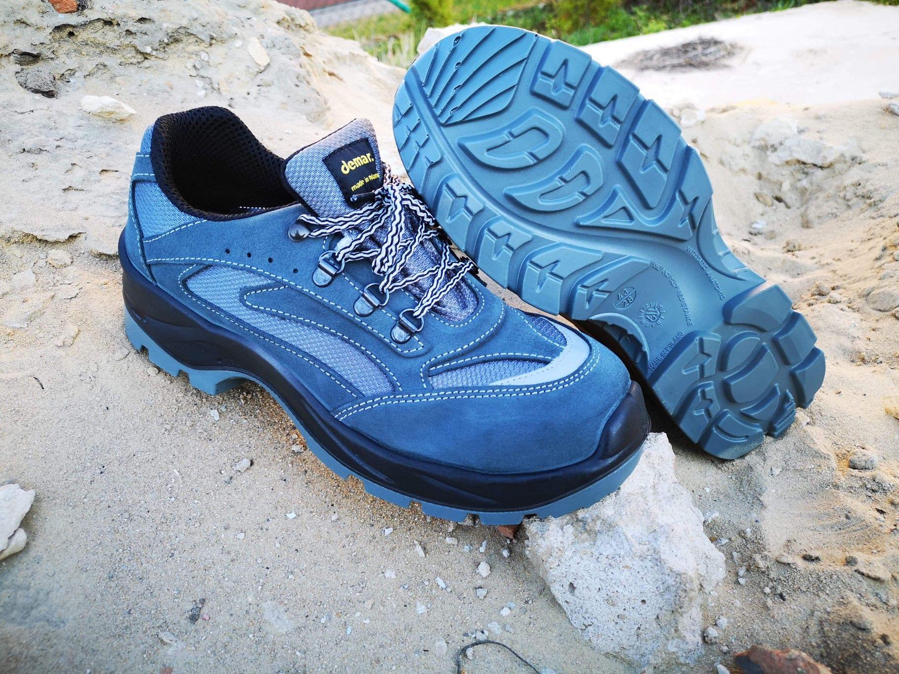 Polbuty Ochronne Demar 9 001 6080a Szare Lub 6080b Czerwone Odswiezone Work Boots Safety Boots Nike Air Max