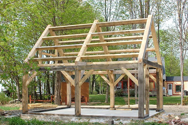 Timber frame structure homesteading pinterest for Small timber frame home plans