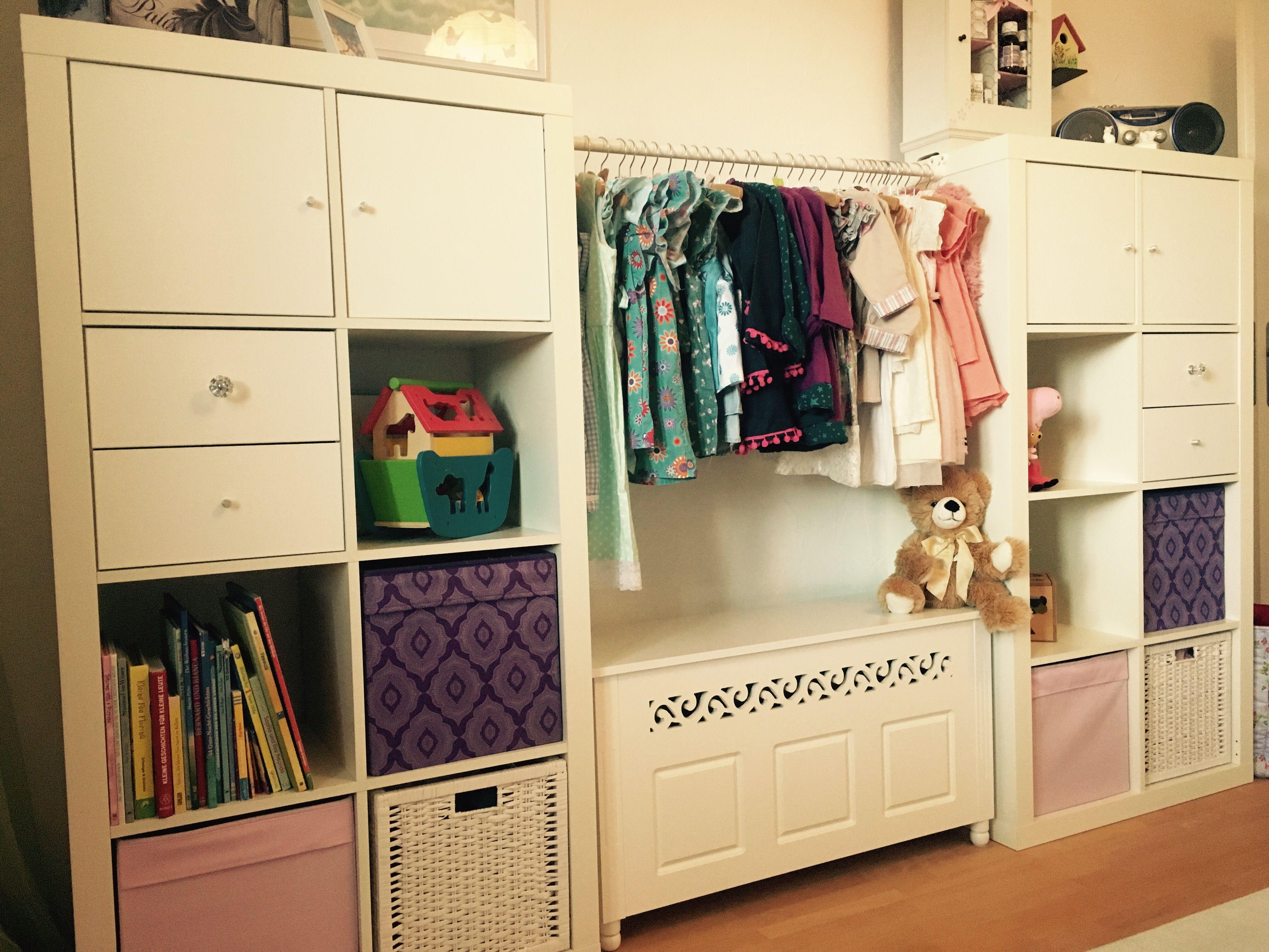 Ikea Hack Kallax Wardrobe For The Girls Diy Furniture Hacks