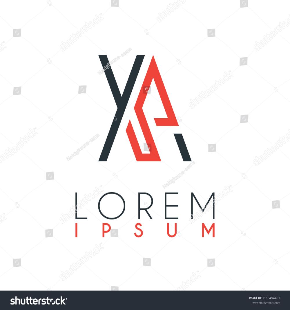 Logo Between Letter X Letter Xa Stock Vector Royalty Free